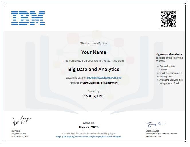 professional big data & analytics training ibm certification - 360digitmg