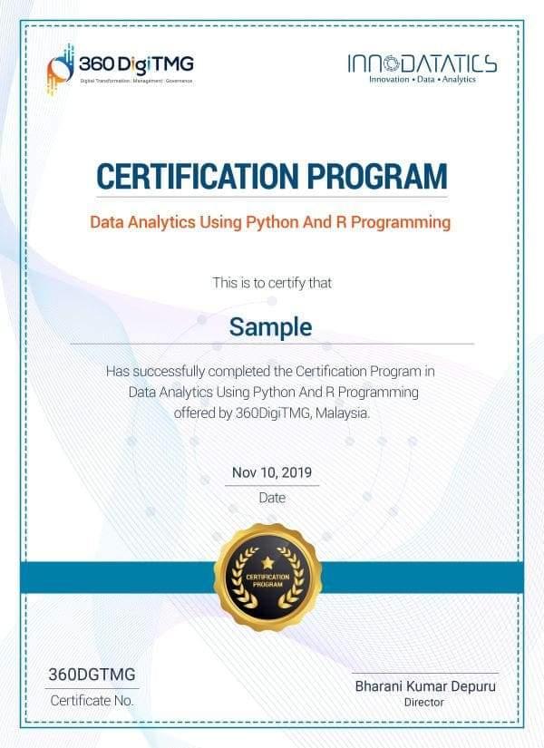 data analytics course certification - 360digitmg