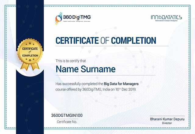 big data certification for managers - 360digitmg