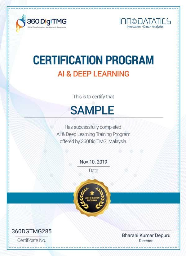 artificial intelligence certification - 360digitmg