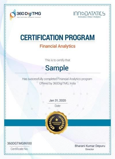financial analytics course certification - 360digitmg