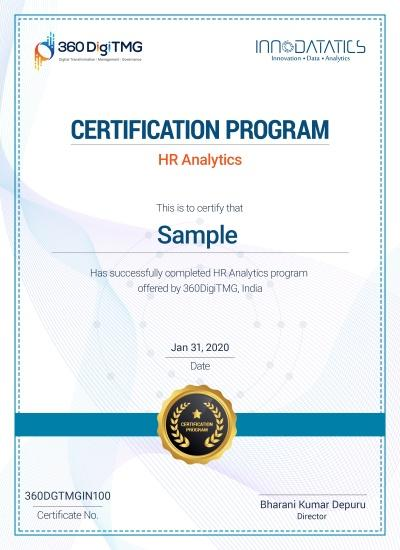 hr analytics certification course in india - 360digitmg
