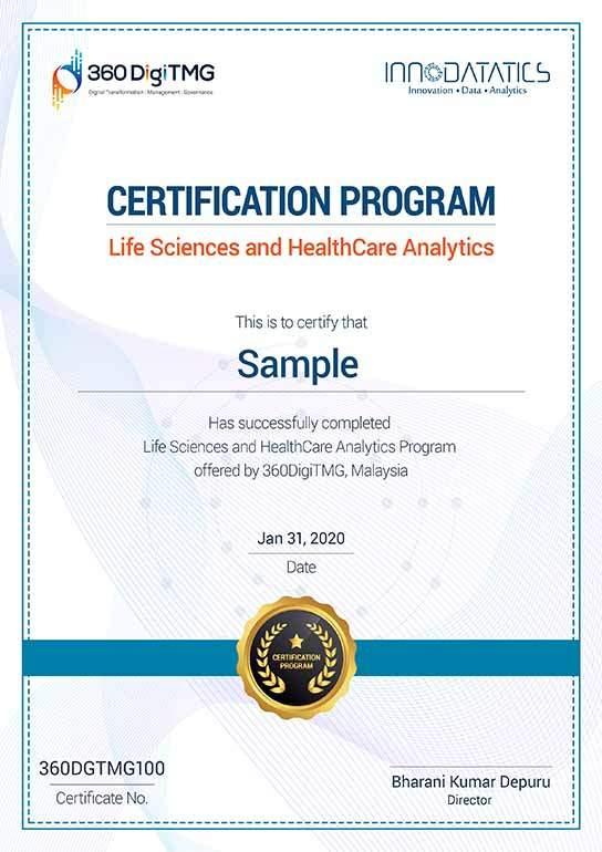 healthcare analytics certification - 360digitmg