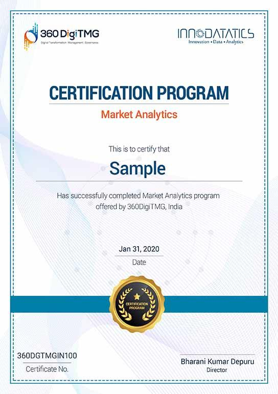 marketing analytics certification course - 360digitmg