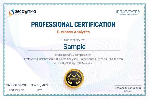business analytics certification course in Thoraipakkam, Chennai