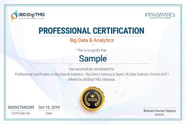 professional big data & analytics training certification - 360digitmg
