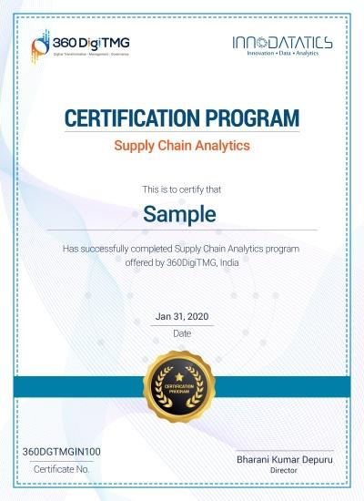 supply chain analytics certification course - 360digitmg