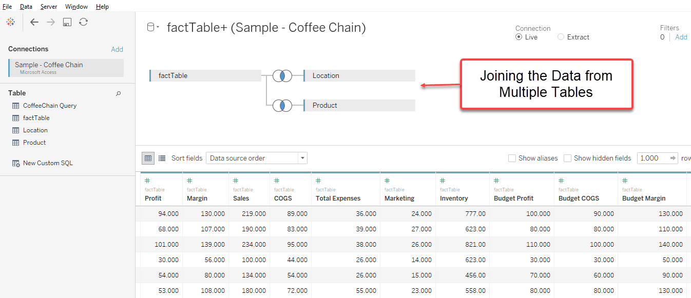 Data Blending in Tableau